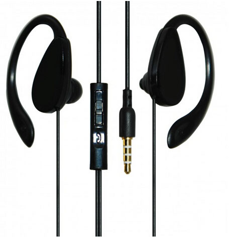 Sport earphone with mic and volume control